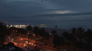 Nighttime Santa Monica Pier