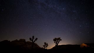 North Star Timelapse With Perseid Meteor Shower in Joshua Tree National Park