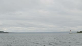 Nova Scotia Bay With Lighthouse