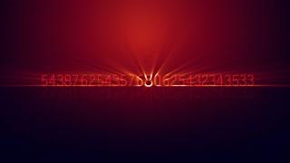 Numeric Zoom Motion Background