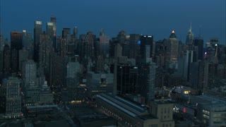 NYC Aerial Midtown Early Morning