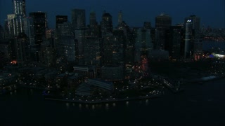 NYC Aerial Zoom to Staten Island Ferry Hub