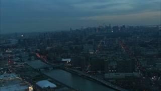 NYC Bridges And Buildings At Dawn