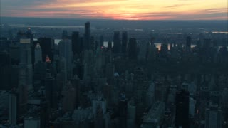 NYC Central Park Sunset Aerial