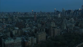 NYC Dawn Downtown Aerial
