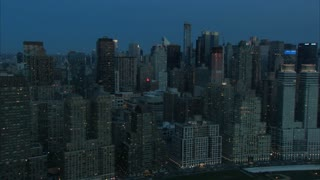 NYC Day Break Skyline Aerial