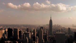 nyc empire state building view time lapse