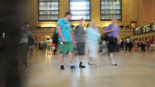 NYC Grand Central Station Crowd