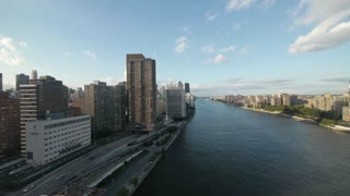 nyc. new york city. skyline skyscrapers .east river. aerial view. cityscape
