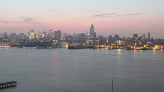 NYC Skyline at Sunrise Time Lapse
