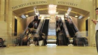 NYC Station Escalator Foot Traffic