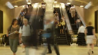 NYC Station Escalator Timelapse