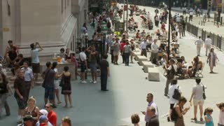 NYC Wall Street People Walking