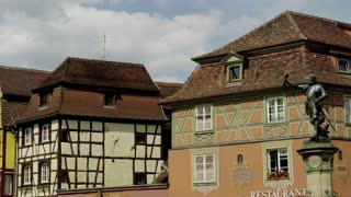 Old Buildings and Statue in Colmar, France