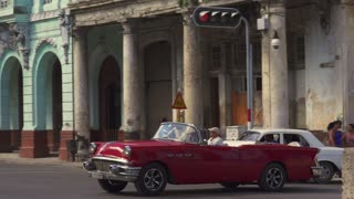 Old Car As Taxi On The Road In Havana Cuba
