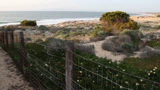 Old Fence Near Ocean Beach