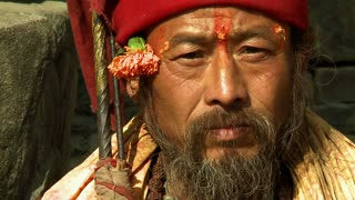 Old Nepali Man Closeup