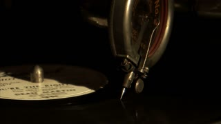 Old Record Needle on Spinning Record