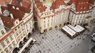 Old Town, Stare Mesto Square from the Town Hall, Prague, Czech Republic, Europe, T/Lapse