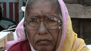 Old Womans Face in India