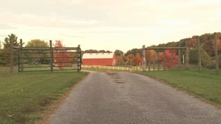 Open Gate At Red Barn