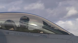 Operating out of Nellis AFB is this F-16 Fighting Falcon