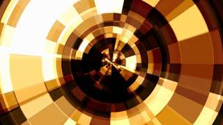Orange Circular rotating mosaic tiles