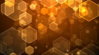 Orange Hexagons