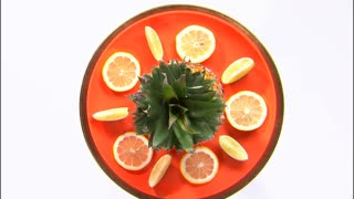 Orange Plate Fruit Platter
