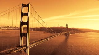 Orange Sky Golden Gate Bridge Timelapse
