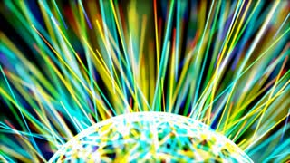 Orb With Colorful Lines