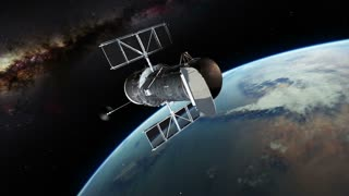 Orbiting Hubble Satellite