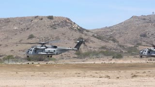Osprey Helicopters of 3rd MAW conducts air lift of battalion