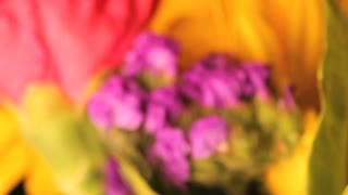 Out of Focus Rotating Flower Bouquet