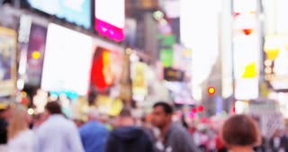 Out of Focus Times Square