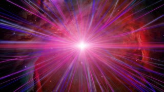 Outer Space Magenta light warp loop background