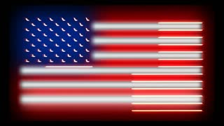 Outlined USA Neon Flag