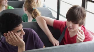 Overhead Students on School Bus