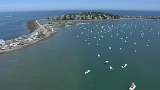 Overhead Views Of Boston Area Marina