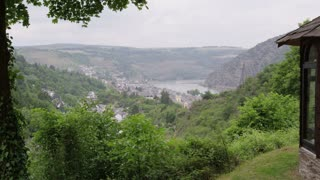 Overlooking German Town Oberwesel From Hill