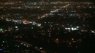 Overlooking LA Nightlife Timelapse