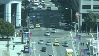 Overlooking San Francisco Traffic Intersection Timelapse