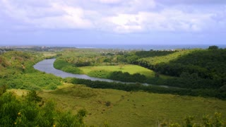 Overlooking Wailua River In Kauai