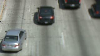 Overpass LA Traffic Tilt Shift