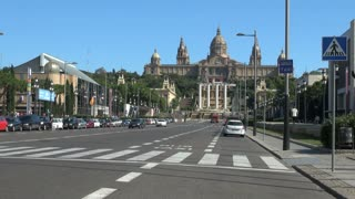 Palau Nacional (National Palace) in Barcelona Spain