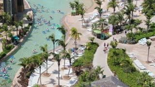 Pan Across Atlantis Resort Lazy River