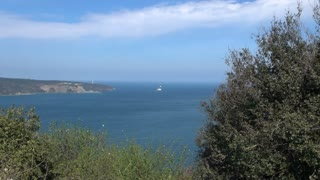 Pan Across Black Sea Entrance