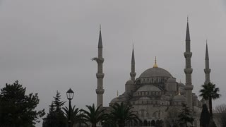 Pan Across Blue Mosque Istanbul