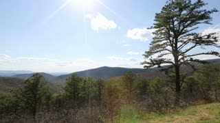 Pan Across Blue Ridge Mountains Landscape