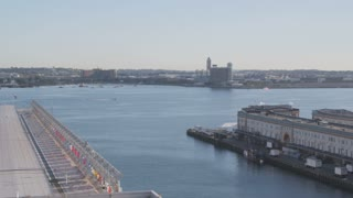 Pan Across Boston Bay Toward Airport